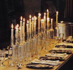 decorating long tables with tin cans and glass jars | Ao longo do ano, aqui no blog, demos exemplos de decoração com ...