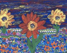 Field of Flowers by Ginny Townsend - MSAA's Artist of the Month for March 2016. Read more about this artist and share an eCard to promote awareness during MS Awareness Month!