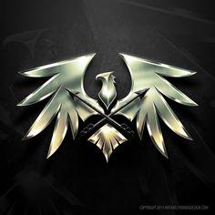 Moonlord logo - Dragon Nest by Alterei on DeviantArt Team Logo Design, Wedding Logo Design, Hacker Wallpaper, Lion Wallpaper, Logo Dragon, Fantasy Logo, Phoenix Images, Dragon Icon, Iphone Background Images