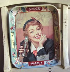 Vintage CocaCola Tray  Thirst Knows no Season by HoneyYourHome