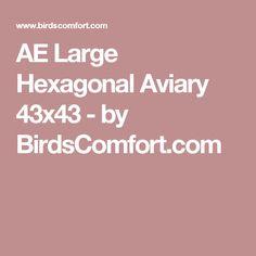 AE Large Hexagonal Aviary 43x43 - by BirdsComfort.com
