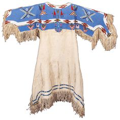 Native American Sioux Dress from Late 19th/Early 20th Century | From a unique collection of antique and modern native american objects at http://www.1stdibs.com/furniture/folk-art/native-american-objects/