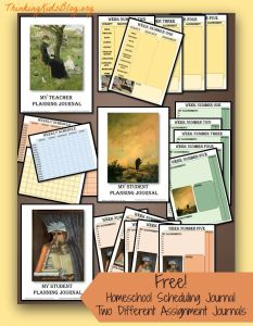Check out these four free 45-page homeschool scheduling journals!