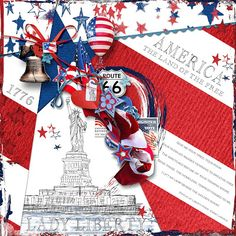 LADY LIBERTY -  Template: One-derful 5 by Heartstrings Scrap Art https://www.digitalscrapbookingstudio.com/personal-use/templates/one-derful-5/ http://www.gottapixel.net/store/product.php?productid=10027668&cat=&page=1 Kit: American Pride by The Urban Fairy  https://www.digitalscrapbookingstudio.com/personal-use/bundled-deals/american-pride-collection/