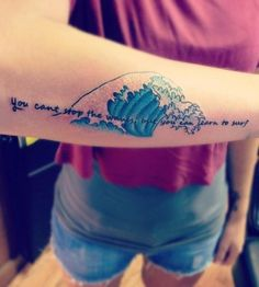 tattoo for girls with ocean waves