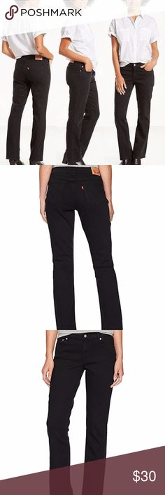 New LEVI'S Black 550 Relaxed Boot Cut Jeans Levi's 550 Jeans  Size 12 - waist 34 - hip 42 - rise 11 - inseam 33  Details - relaxed fit - boot cut  - button & zipper closure - five pocket style  condition: new without tags smoke-free home NO TRADES Levi's Jeans Boot Cut