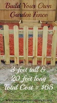 Adorable And Affordable DIY Garden Fence With A Functional Gate. Step By  Step Instructions With