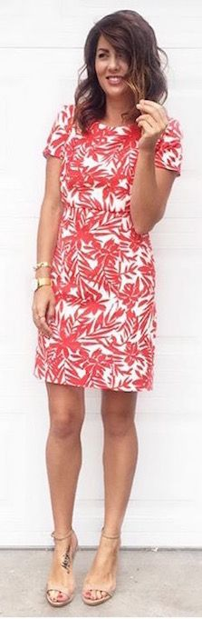 Jillian Harris x Goodnight Macaroon Red Print Dress www.goodnightmacaroon.co