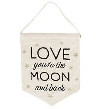 Sass and Belle Love You to the Moon and Back Banner Flag - Cotton Flag