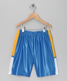 Blue & Yellow Track Shorts - Boys  #zulily and #fall