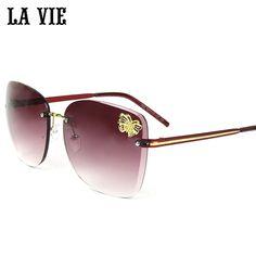 $21.50 (Buy here: https://alitems.com/g/1e8d114494ebda23ff8b16525dc3e8/?i=5&ulp=https%3A%2F%2Fwww.aliexpress.com%2Fitem%2FLA-VIE-2016-Fashion-Rimless-Butterfly-Women-Sunglasses-Brand-Designer-Diamond-cutting-Sun-glasses-for-Women%2F32705863823.html ) LA VIE Women's Sunglasses Metal Frame Reflective Coating Mirror Flat Panel Lens Brand Designer Sun Glasses Oculos De Sol #S144 for just $21.50