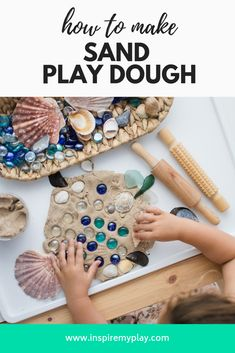 For a fun variation on regular play dough try making sand play dough! This play dough is perfect for summer and can be whipped up in just 5 minutes! Craft Activities, Toddler Activities, Nursery Activities, Nature Activities, Toddler Fun, Activity Ideas, Preschool Ideas, Teaching Ideas, Craft Ideas