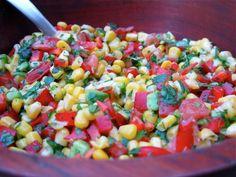 Raw Vegan Zesty Lime Corn Salad