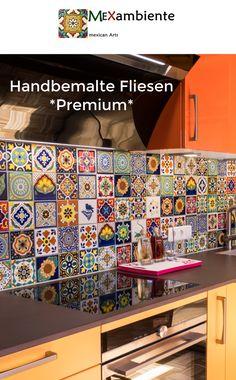 Wunderschöne Fliesen Für Die Küche Mit Bunten Designs Aus Mexiko🌻  #handbemalt #küchenfliesen #