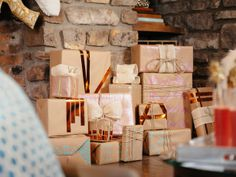 Skip the store-bought gift wrap this year! @Marianne Canada has three fun ways to dress up kraft paper. (http://blog.hgtv.com/design/2013/12/10/christmas-kraft-paper-gift-wrap-3-ways/?soc=pinterest-blogparty)
