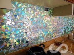 HOW TO: Use Old CDs for Mosaic Craft Projects - DIY Kitchen Backsplash Tips and Tricks: