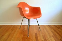 SALE Early Herman Miller Eames Armshell Chair by TheCottageCheese, $450.00