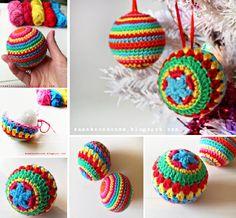 Crochet Christmas Baubles Free Pattern