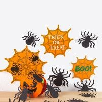 """5 HALLOWEEN Party HANGING Decoration SPIDER Spiders Dangling WHIRLS Swirls 34/"""""""