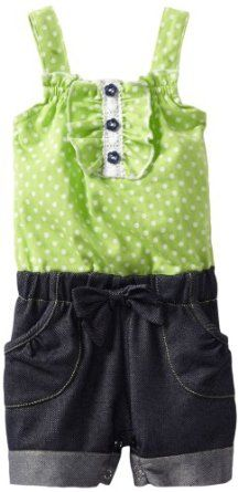 Little Lass Baby-girls Infant 1 Piece Romper With Polka Dots,