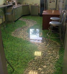 Among all the Floor Coating Services, Epoxy Floor is gaining increasing popularity. The epoxy floor has been used more and more in shopping… 3d Floor Art, Floor Murals, Decoration Design, Decor Interior Design, Epoxy 3d, Types Of Kitchen Flooring, Sol 3d, Lindal Homes, 3d Flooring