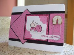 Spotted Baby using Stampin' Up! Baby Firsts stamp set.