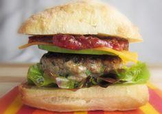 Apple-Cheddar Turkey Burger