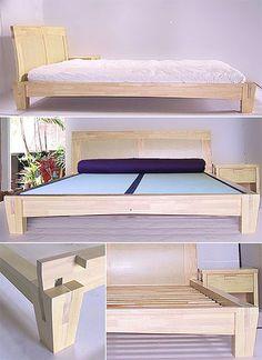 Yamaguchi Platform Bed Frame-Natural Finish