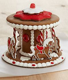 This holiday gift puts a new spin on the classic gingerbread house. Each piece of spicy gingerbread is handmade and hand-decorated, from the...