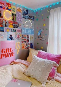 Dorm Wall Décor With Neon Signs ? Simple and unique dorm room ideas for girls with necessary storage and style! : Dorm Wall Décor With Neon Signs ? Simple and unique dorm room ideas for girls with necessary storage and style! Cute Room Ideas, Cute Room Decor, Teen Room Decor, Room Ideas Bedroom, Bedroom Decor, Modern Bedroom, Master Bedroom, Bedroom Wall, Minimalist Bedroom