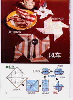 How to Fold a Fancy Napkin DIY: Fold Napkins - Windmill