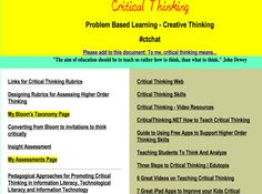 Tons of Resources for Teaching Critical Thinking to Your Students ~ Educational Technology and Mobile Learning