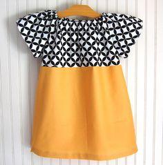 Mustard Diamond Eye Dress Short  by The Trendy Tot. $36,00, via Etsy.