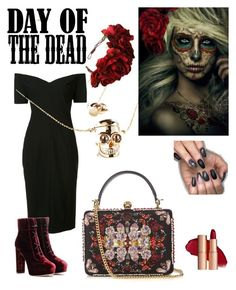 """""""Day of the dead"""" by shaima-al-subaie on Polyvore featuring Cinq à Sept, Love and Madness, Alexander McQueen, Rock 'N Rose, Jimmy Choo and Dayofthedead"""
