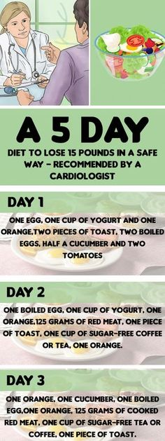 A 5-Day Diet To Lose 15 Pounds In A Safe Way – Recommended By A Cardiologist