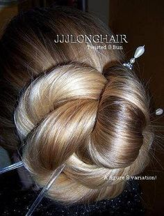 Buns for a really long hair...she is my hero!!!