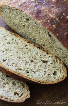 No Knead Rye Bread recipe from Jenny Jones - Easy way to make rustic rye bread at home with no kneading No Knead Rye Bread Recipe, Rye Bread Recipes, Easy Cake Recipes, Whole Food Recipes, Cooking Recipes, Keto Recipes, Healthy Recipes, German Rye Bread Recipe, German Bread