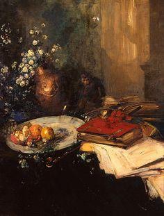 유 Still Life Brushstrokes 유 Nature Morte Painting by Antoine Vollon | Still Life, 1880-99.