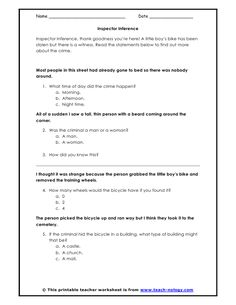 inference worksheets inference game show what 39 s my job reading pinterest inference. Black Bedroom Furniture Sets. Home Design Ideas