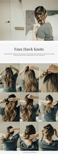 Faux Hawk Knot Hairstyle Tutorial