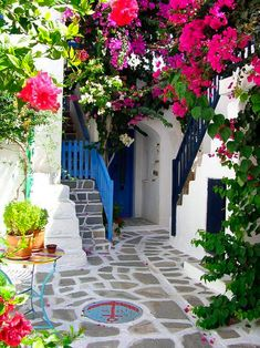 Courtyard, Paros Island, Greece