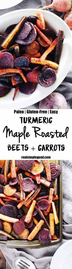 These turmeric maple roasted beets and carrots are an easy and delicious way to incorporate this powerful spice into your diet. Paleo + Gluten-Free
