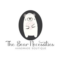 Premade Logo - Heart & Bear Premade Logo Design - Customized with Your Business Name!
