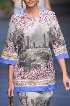 I probably would never wear this, but I like it any way. Dolce & Gabbana S/S 14