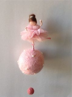 needle felted waldorf ballerina mobile. Made of von lovebluecats