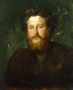 """""""William Morris"""" by George Frederic Watts, 1870 (National Portrait Gallery). -- Henry James described William Morris as """"the poet and paper-maker"""" in 1881. Reinventing the decorative vocabulary of his time, Morris believed that """"any decoration is futile … when it does not remind you of something beyond itself."""" He turned to nature for inspiration, seeking to """"turn a room into a bower, a refuge."""" #William_Morris #Arts_and_Crafts_Movement #Geroge_Frederic_Watts #Pre_Raphaelite_Brotherhood"""