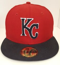 76db9d447c8 Kansas City Royals KC Fitted Hat Cap Rare Red Chiefs Cardinals New Era  Baseball  NewEra