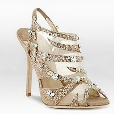 Jimmy Choo Crystal Diamond-embellished Suede Sandals Nude Shoes