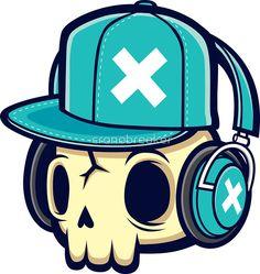 «Skull and Headphones» de cronobreaker