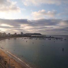 #Salinas 06:00 a esta hora una vista única que Dios nos permite disfrutar.  Buen dia a todos. #Ecuador